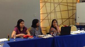 W-DARE project partner respresentatives; Krissy Bisda (PARE), Joy Salgado (Likhaan) and Mona Pindog (DLSU).