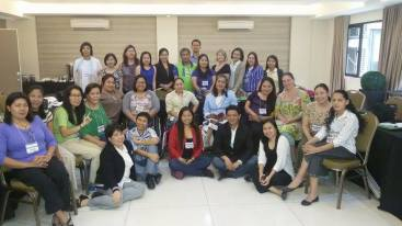 Participants at the PAG facilitator training, Quezon City, January 2015.