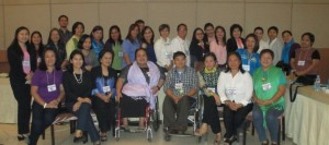 Participants at the Gender and Disability Sensitisation workshop Quezon City, 4th to 6th February 2015.