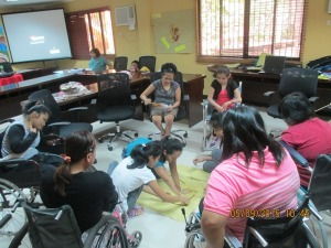 Carminda Licerio and participants during a PAG session, May 2015, Quezon City.